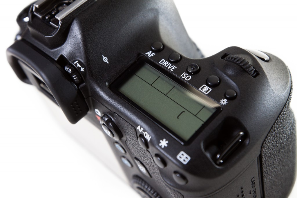 Canon 6D top screen