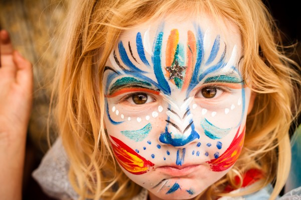 ren faire photo: willow with face paint
