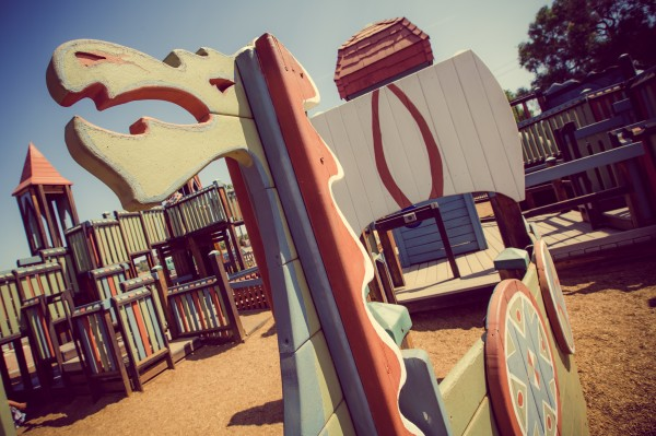 viking ship at playground