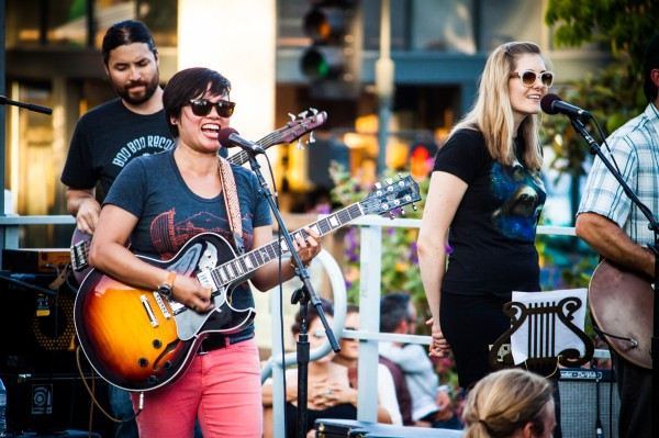 The Kicks play at the Concerts in the Plaza in Downtown SLO
