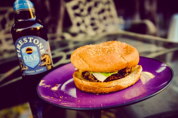 cheeseburger and beer