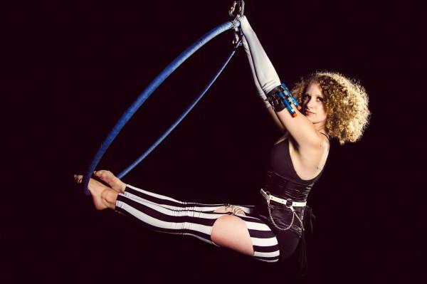 aerial hoop performer