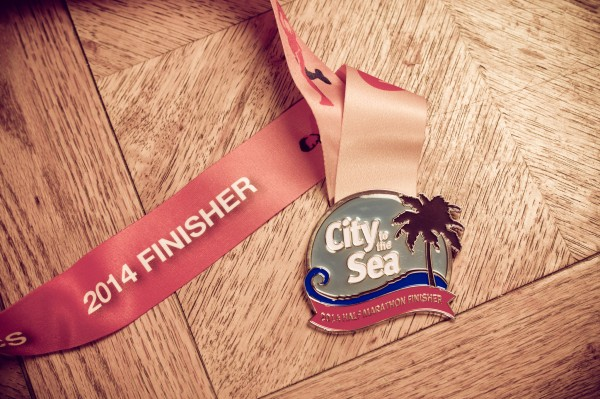 city to the sea half marathon medal