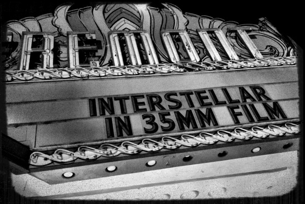 fremont theater sign for interstellar