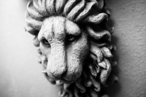 lion-head sculpture