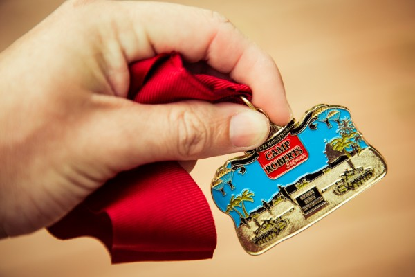 buzz half-marathon medal