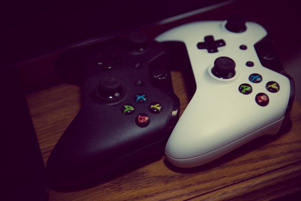 xbox one controllers | photograph by Brian J. Matis