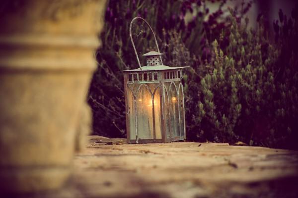 lantern in yard | photograph by Brian J. Matis