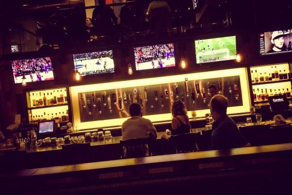 sports bar | photograph by Brian J. Matis