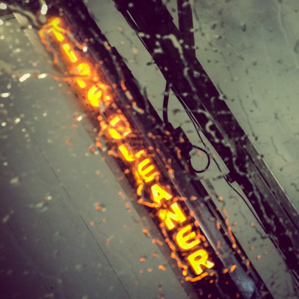 tire cleaner sign | photograph by Brian J. Matis
