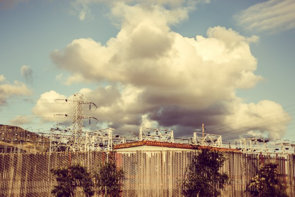 clouds over power station | photograph by Brian J. Matis