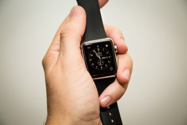 Apple Watch with black sport band | photograph by Brian J. Matis