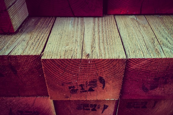 wooden beams | photograph by Brian J. Matis