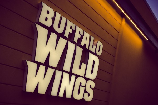 Buffalo Wild Wings sign | photograph by Brian J. Matis