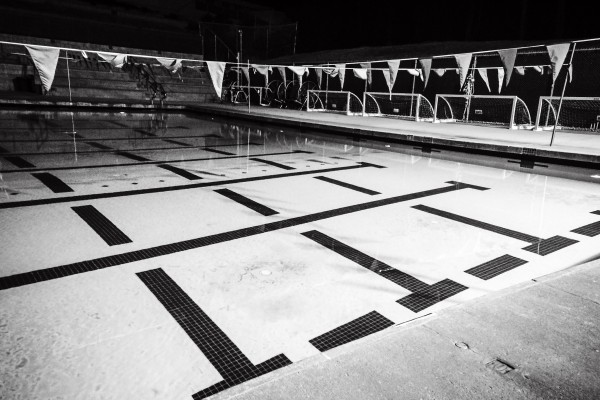 swimming pool at night | photograph by Brian J. Matis