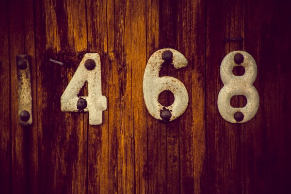 numbers on telephone pole | photograph by Brian J. Matis