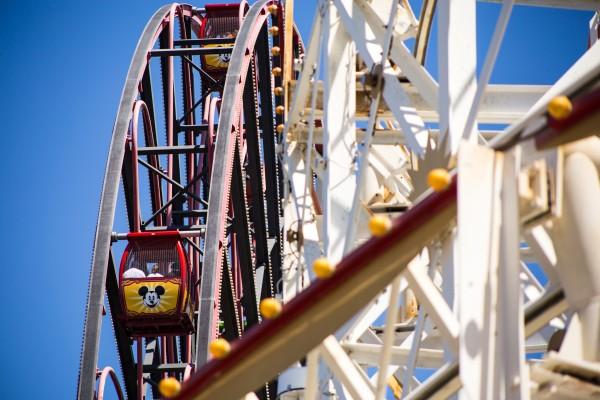 Mickey Mouse ferris wheel at Disney California Adventure   photograph by Brian J. Matis