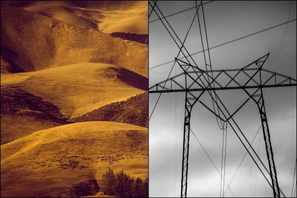 california hills and power lines | photograph by Brian J. Matis